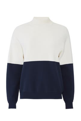 Navy Colorblock Sweater by Tory Sport