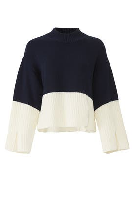 Cropped Colorblock Pullover by Victor Alfaro