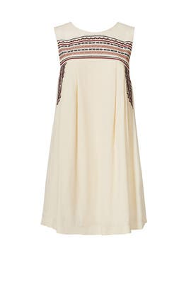 White Embroidered Perla Dress by ASTR