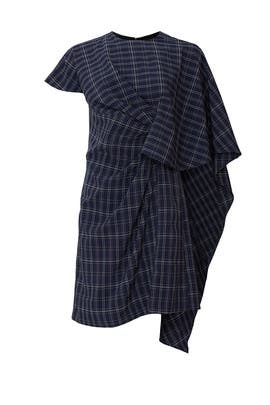 Plaid Cape Dress by Prabal Gurung Collective
