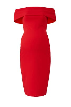 Red Claire Maternity Dress by soon maternity