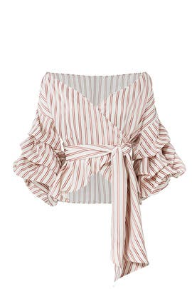 Red Striped Armelle Top by Alexis