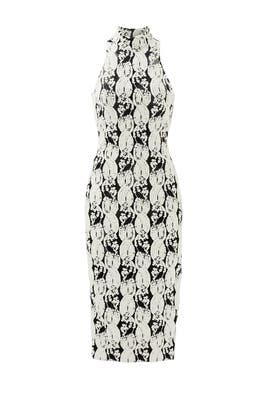 Black and White Lotus Dress by Cushnie