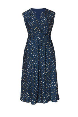 Navy Poppy Wrap Dress by Jason Wu x ELOQUII