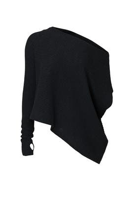 Charcoal One Shoulder Sweater by KF/KaufmanFranco Collective