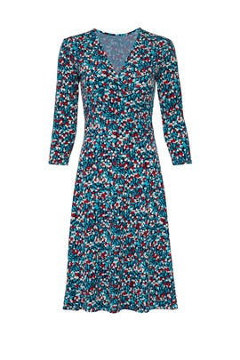 Calico Perfect Faux Wrap Dress by Leota