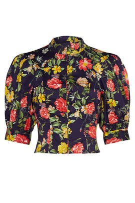 Floral Printed Puff Sleeve Top by Marissa Webb Collective
