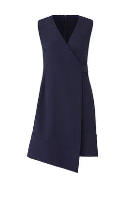 Navy Barrow Wrap Dress by Of Mercer