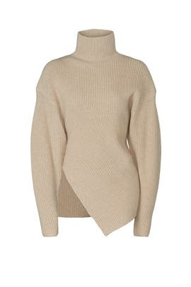 Asymmetrical Turtleneck Sweater by Proenza Schouler