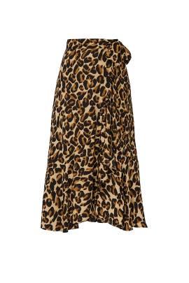 Animal Print Wrap Over Skirt by Scotch & Soda