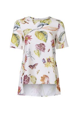 Floral Fauna Blouse by Adam Lippes Collective