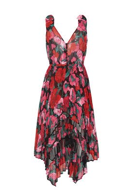 Floral Asymmetric Robe Dress by The Kooples