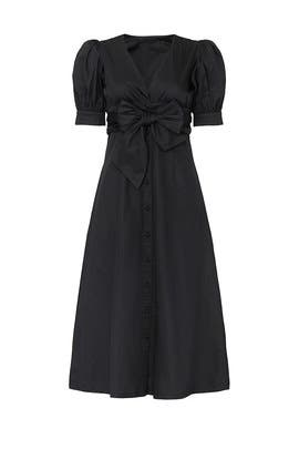 Black Puff Sleeve Dress by Love, Whit by Whitney Port