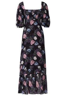 Floral Square Neck Maxi by Nicholas