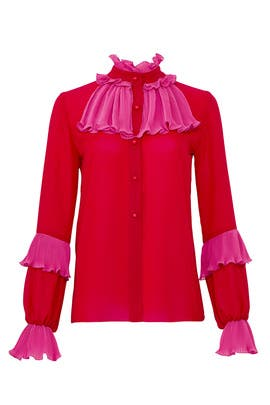 Georgette Medley Blouse by Anna Sui