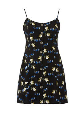 Dark Floral A-Line Dress by City Chic