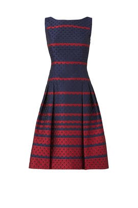 Scallop Flare Dress by Carmen Marc Valvo