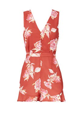 Red Jayme Romper by Greylin