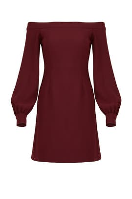 Red Ink Shoulder Dress by Jill Jill Stuart