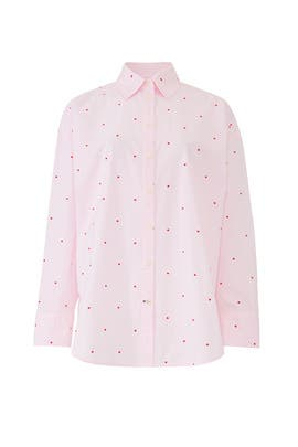 Micro Hearts Poplin Shirt by kate spade new york