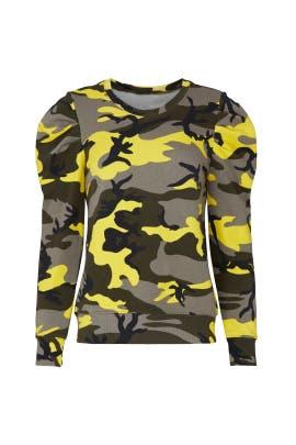 Pop Camo Puff Sleeve Sweatshirt by Pam & Gela