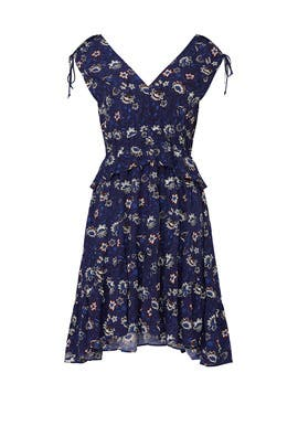 Navy Lotus Printed Dress by Thakoon Collective