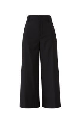 Black High Rise Crop Pants by VINCE.
