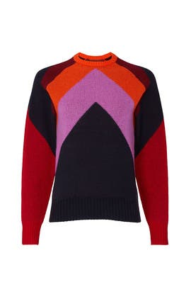 Intarsia Chevron Sweater by Victoria Victoria Beckham