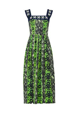 Green Printed Chloe Dress by Autumn Adeigbo