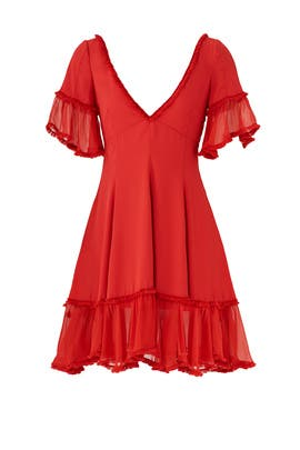 Red Dianne Dress by Cinq à Sept