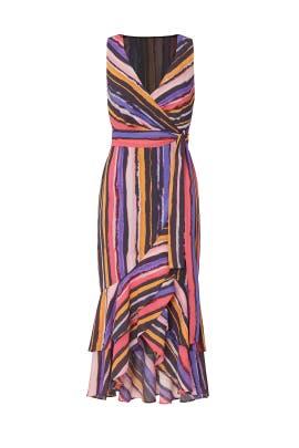 Vibrant Orchid Wrap Dress by Great Jones