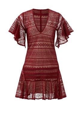 Maroon Cybil Dress by Marissa Webb