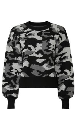 Black Camo Sweater by Marissa Webb Collective