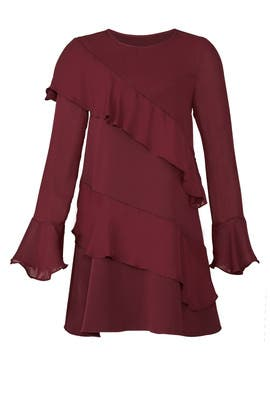 Wine Evony Combo Dress by Parker
