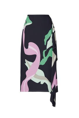 Ant Farm Print Asymmetrical Skirt by Tibi