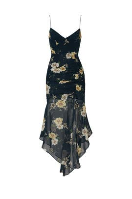 Navy Floral Drawstring Dress by Nicholas
