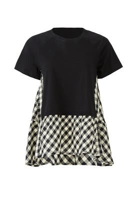 Gingham Colorblock Top by RED Valentino