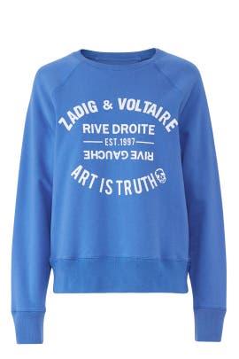 Upper Blason Sweatshirt by Zadig & Voltaire