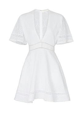 Embroidery V-Neck Mini Dress by Jonathan Simkhai