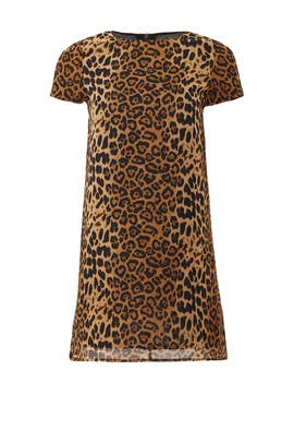 Leopard Print Shift Dress by Line + Dot
