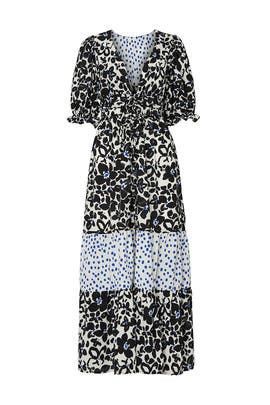 Black Floral Puff Sleeve Dress by Love, Whit by Whitney Port