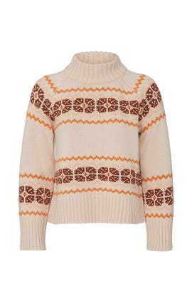 Mock Neck Fair Isle Pullover by Madewell