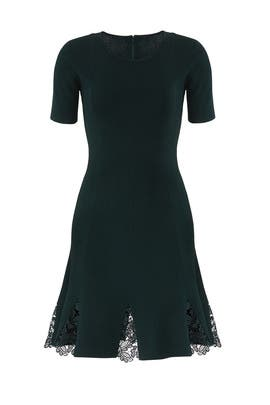 Green Serra Knit Dress by Sachin & Babi