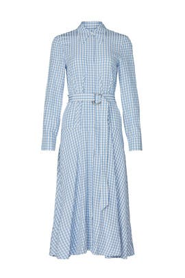 Blue Gingham Shirtdress by Tibi