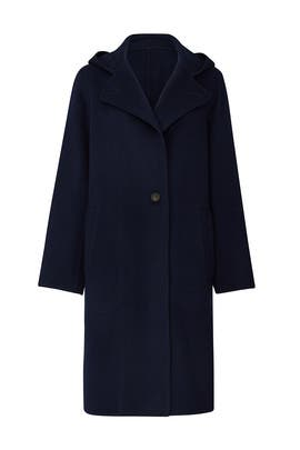 Navy Hooded Coat by VINCE.