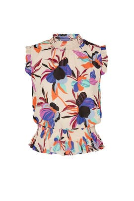 Floral Smocked Top by J.Crew