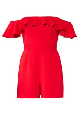 Red Bianca Romper by Jay Godfrey