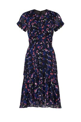 Navy Floral Ruched Dress by Jason Wu Collective