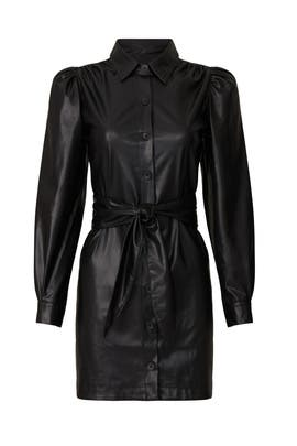 Faux Leather Shirtdress by Peter Som Collective