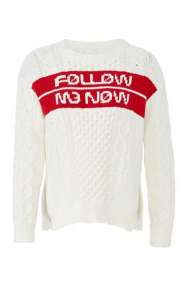 Follow Me Now Sweater by RED Valentino
